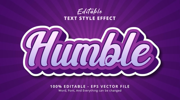 Скромный текст на фиолетовом комбинированном текстовом эффекте, редактируемый текстовый эффект