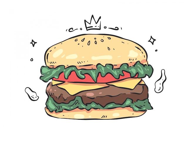 Humburger  .  humburger doodle