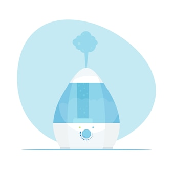 Humidifier air. modern home humidifier. purifier microclimate. illustration in flat style.