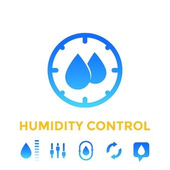Набор иконок контроля влажности