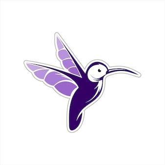 Humming bird sticker design decorative element