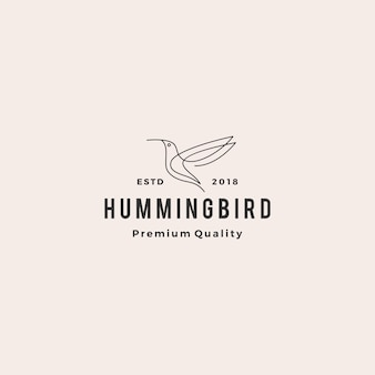 Hummingbird colibri bird logo