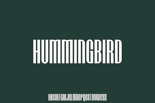 Hummingbird condensed urban font perfect for your poster and apparel design