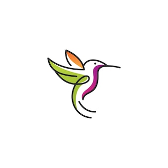 ハチドリラインアートのロゴ