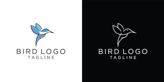 벌새 로고, 동물 라인 아트 로고