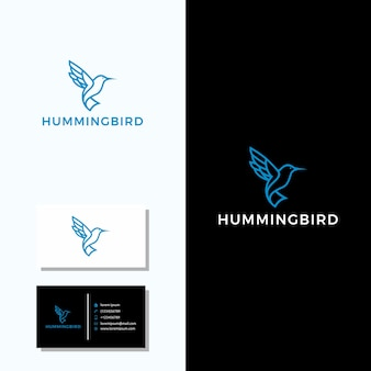 Hummingbird logo + business card design