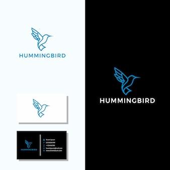 Hummingbird logo + business card design