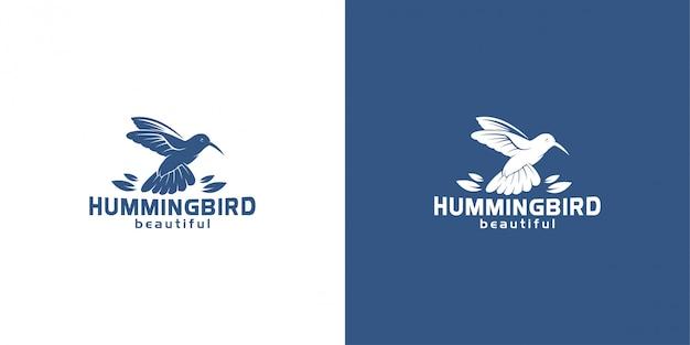 Колибри логотип дизайн вдохновение вектор