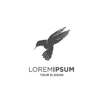 Колибри силуэт логотип
