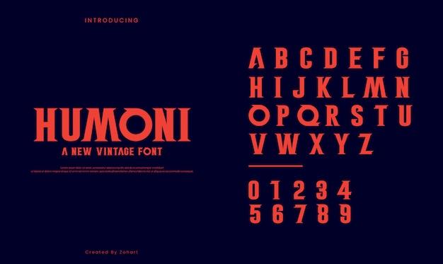 Humoni red font