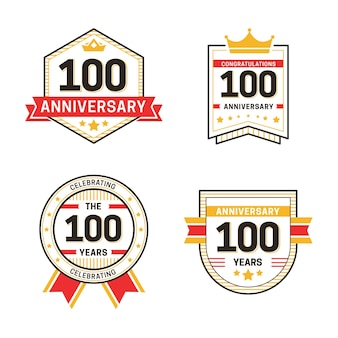 Hundred anniversary labels collection