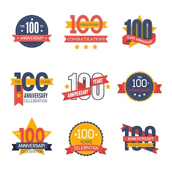 Hundred anniversary labels set