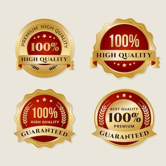 Hundred percent guarantee labels collection
