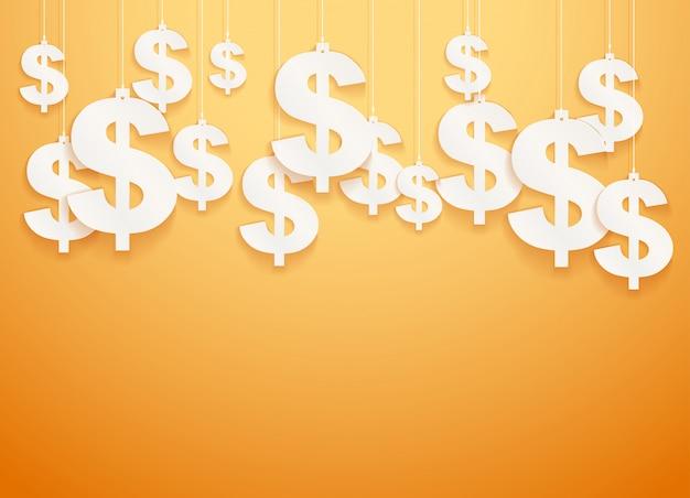 Повешенные символы доллара.