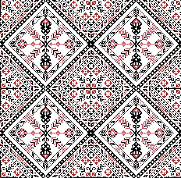 Hungarian pixel pattern for cross-stitch.