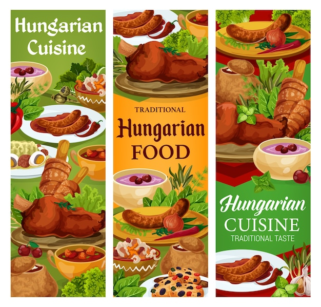 Hungary cuisine, hungarian food sausages with spicy sauce and onion