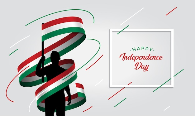 Hungary independence day   illustration