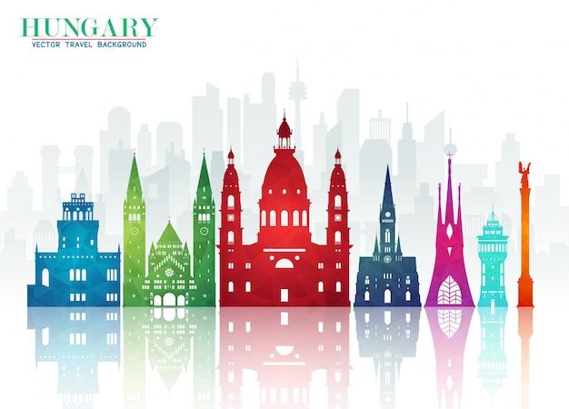 헝가리 랜드 마크 글로벌 여행 및 여행 종이