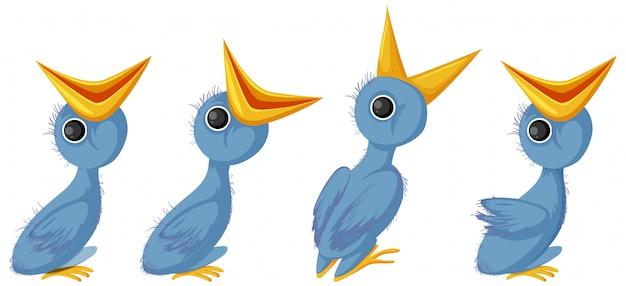 Hungry chicks cartoon character