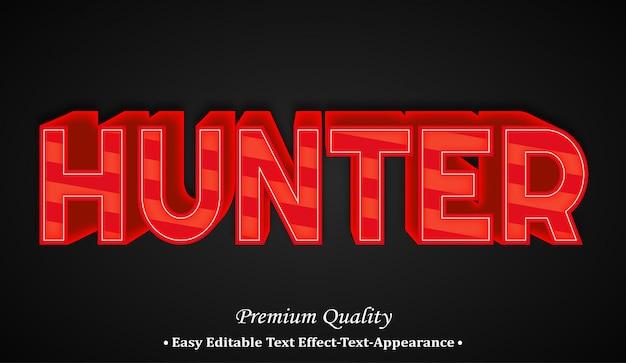 Hunter 3d font style effect