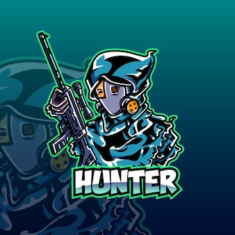 Hunter e-sport logo template