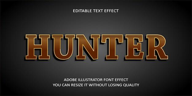 Hunter editable text effect