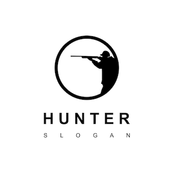 Hunter logo design template