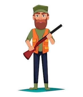 Охотник человек мультипликационный персонаж