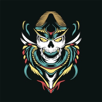 The hunter skull vector illustration