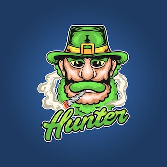 The hunter and st. patrick's day illustration