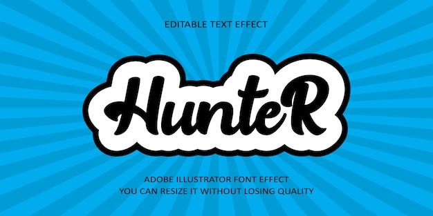Текстовый эффект шрифта hunter