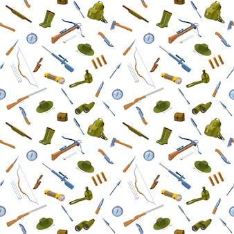 Hunting background seamless pattern
