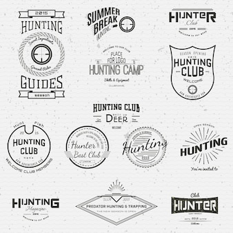 Hunting badges  and labels