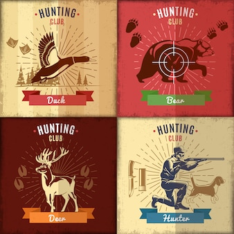 Hunting club label set