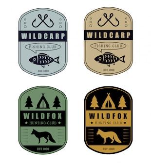 Hunting and fishing badge