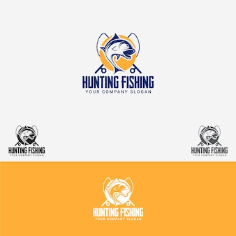 Hunting fishing logo