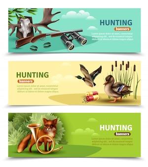Hunting horizontal banners