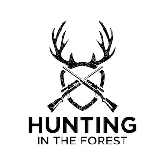 Охота в лесу с использованием винтовки
