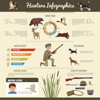 Hunting infographic template