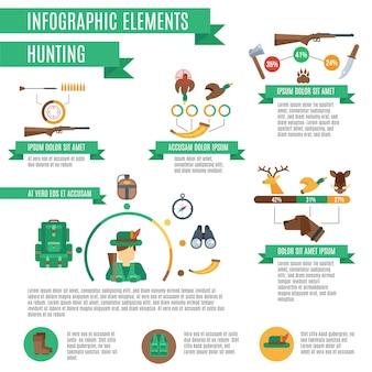 Набор инфографик для охоты