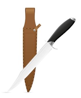 Hunting knife vector illustration