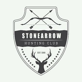 Hunting label, logo, badge