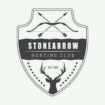 狩猟ラベル、ロゴ、バッジ
