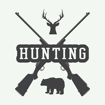 Hunting label, logo