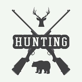 Hunting label, logo