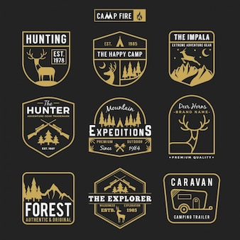 Hunting labels collection