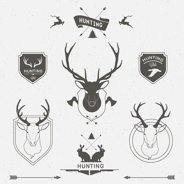 사냥 라벨 세트