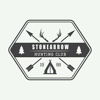 Hunting logo in vintage style. vector illustration.