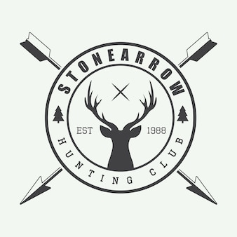 Hunting logo in vintage style.