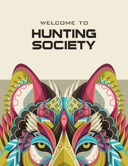 Hunting open season or hunter club  banners templates